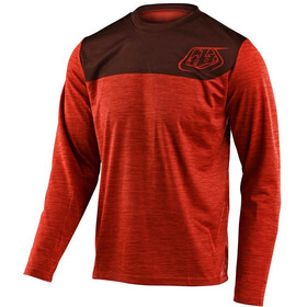 Troy Lee Designs Flowline Langarm Trikot shield heather tang/dark slate
